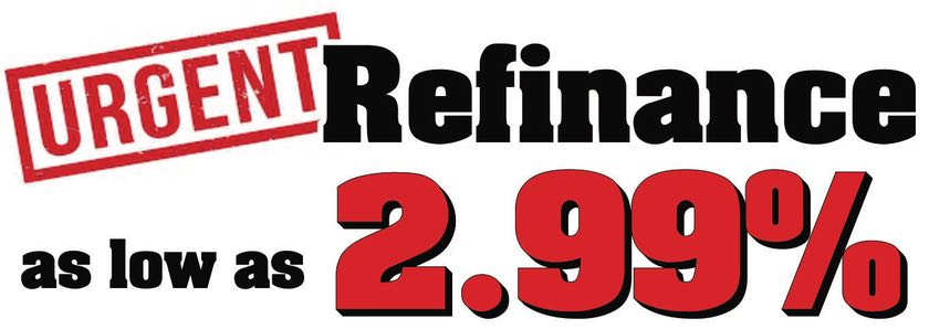 Urgent: Refinance as low as 2.79%